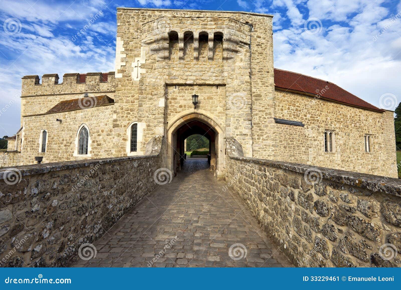 Leeds (AL) United States  City new picture : Leeds Castle Gate Entrance, Kent, United Kingdom Stock Image Image ...