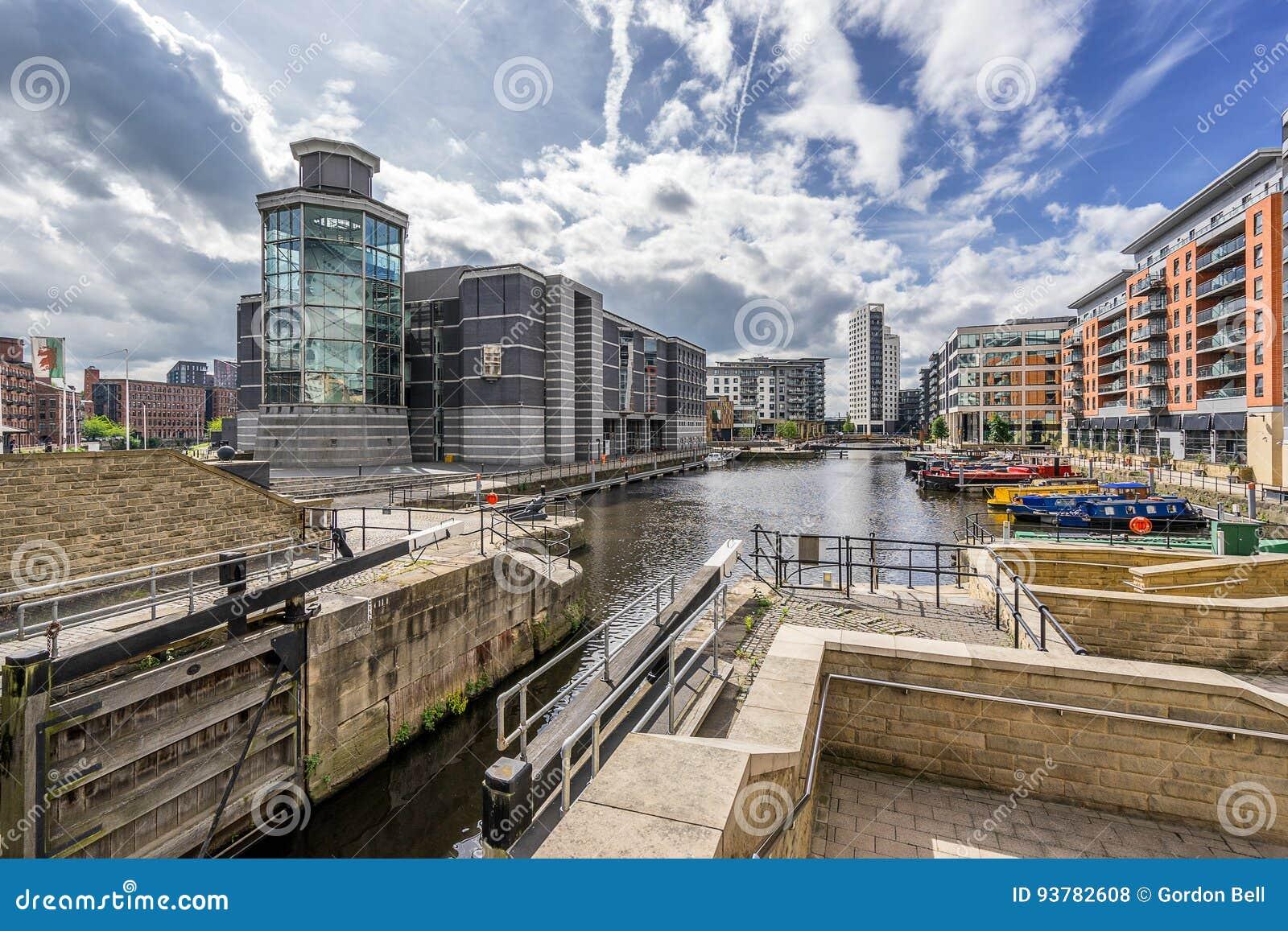 Leeds Dock In The City Of Leeds Stock Photo - Image of ...