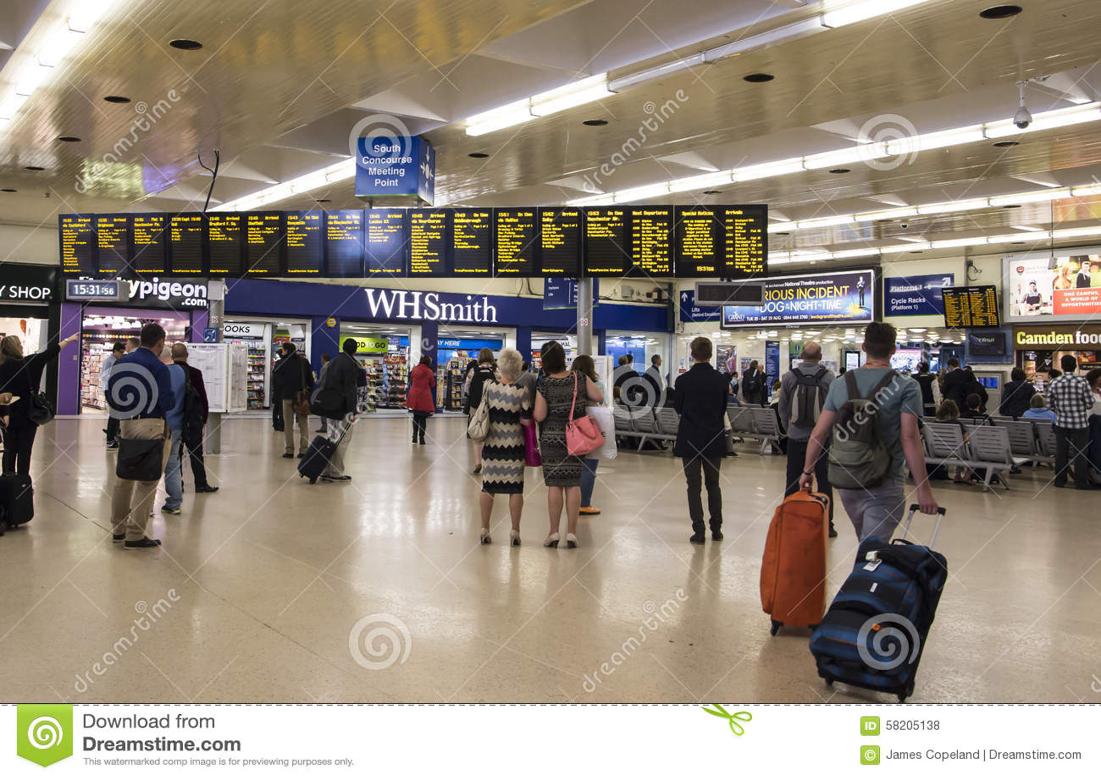LEEDS, UK - 23 JULY 2015  Leeds Train Station  The Main