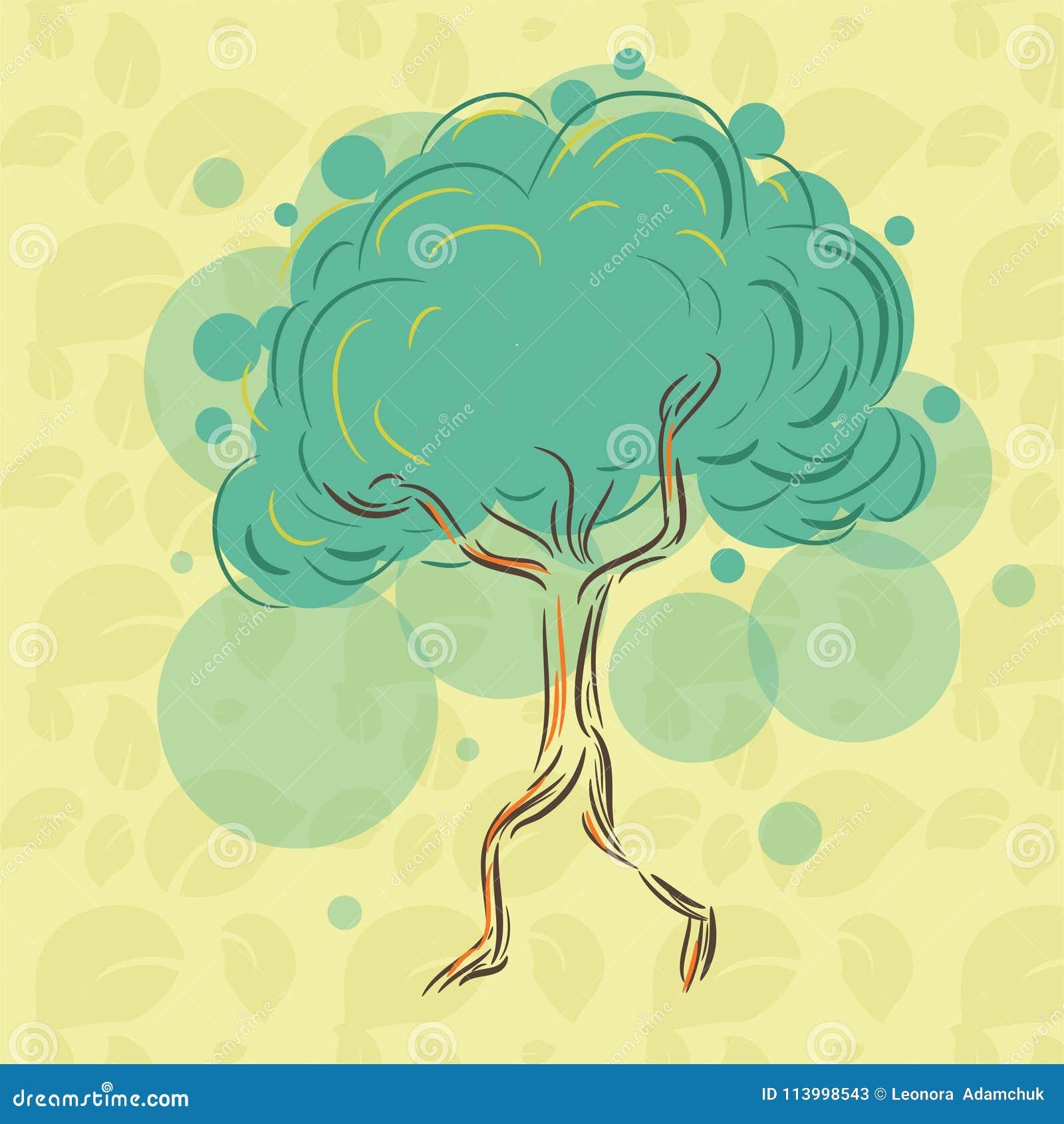 Leef eenzame boom op de bladeren te houden zodat zij niet verdwijnen en vanaf las lopen