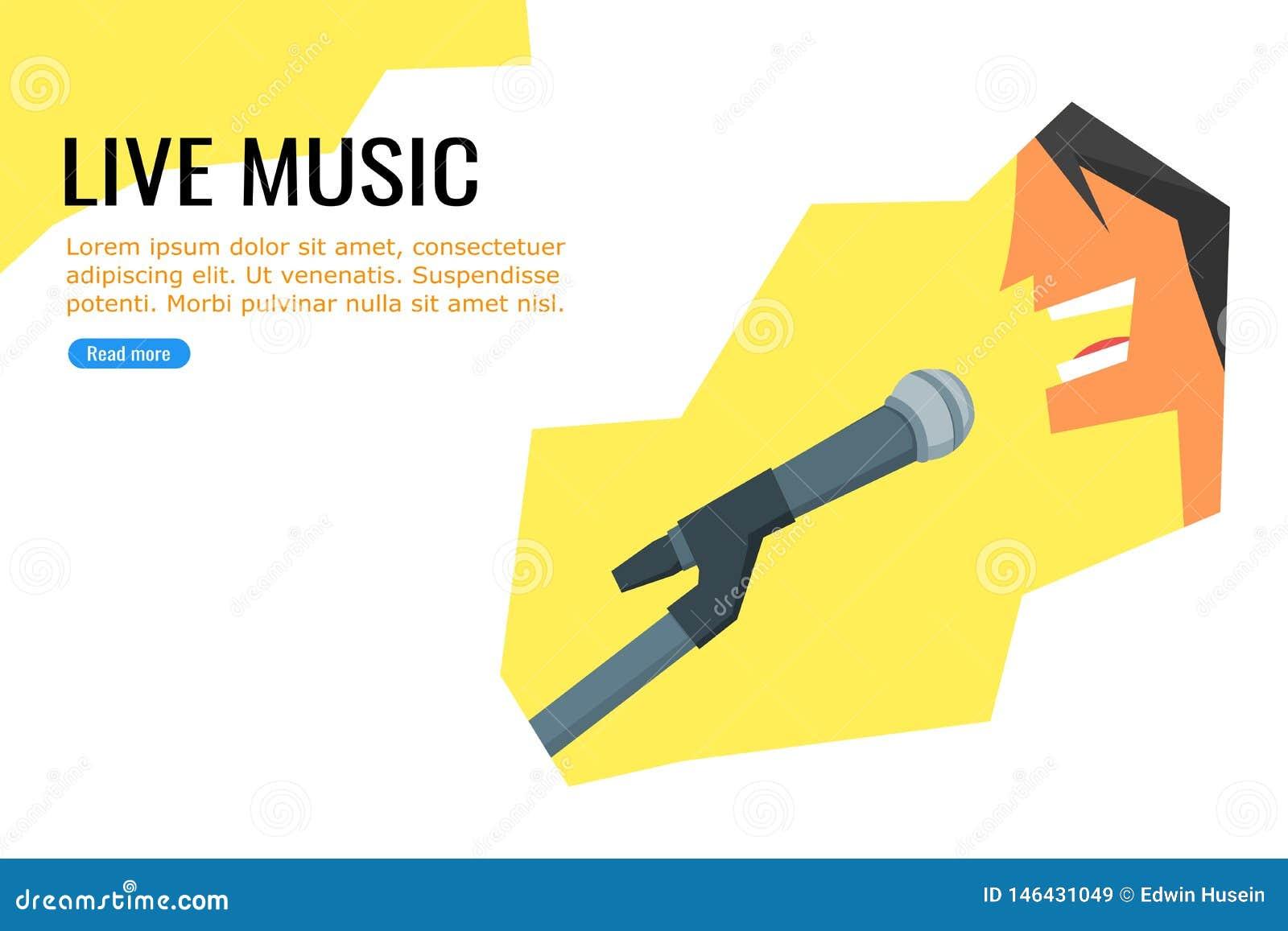 Leef muziekaffiche