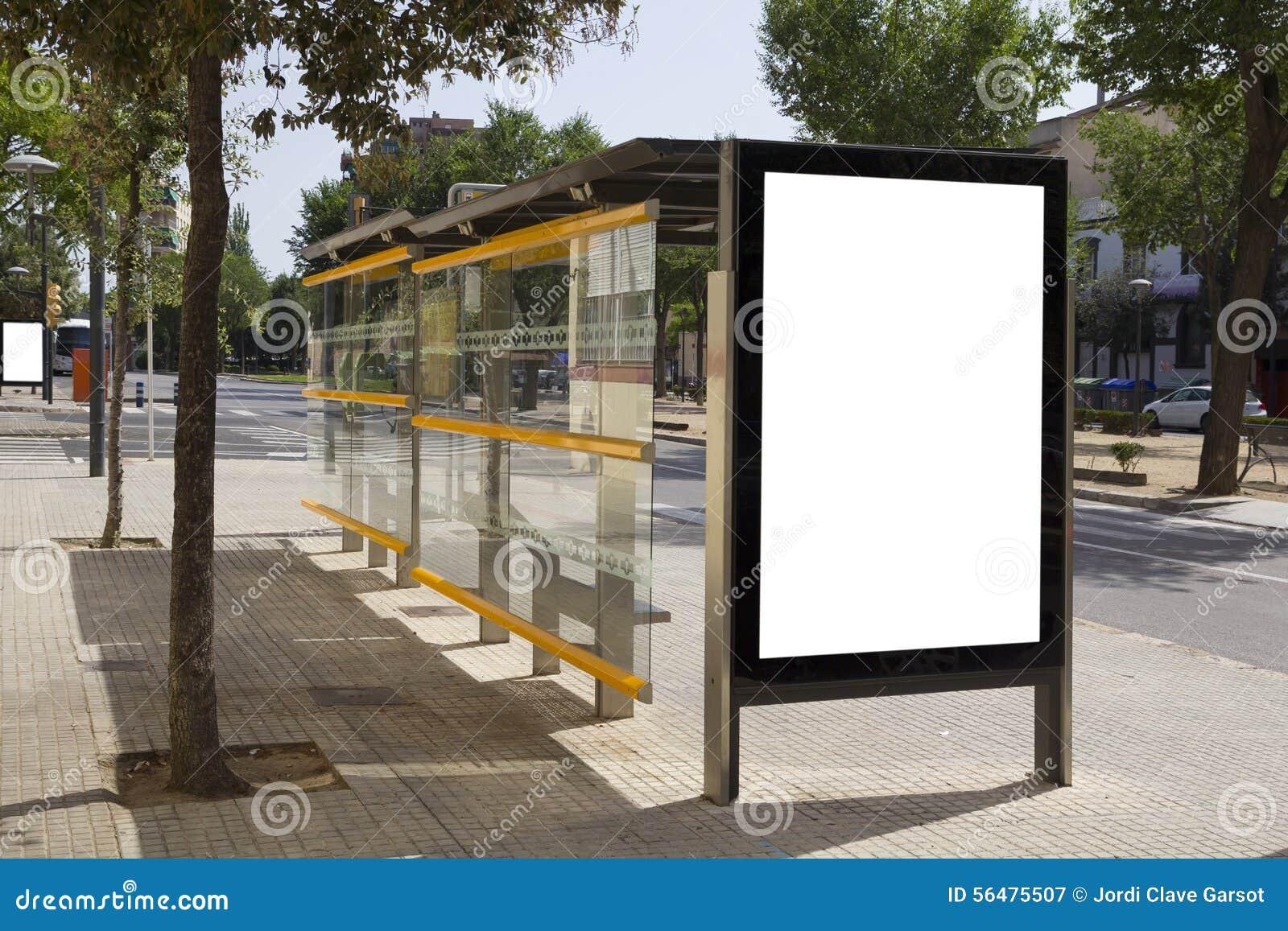 bushalte reclame