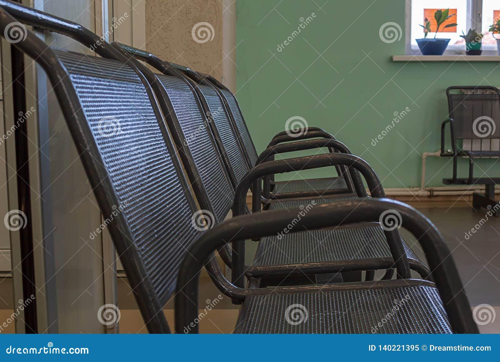 Leeg een stoel in de wachtkamer