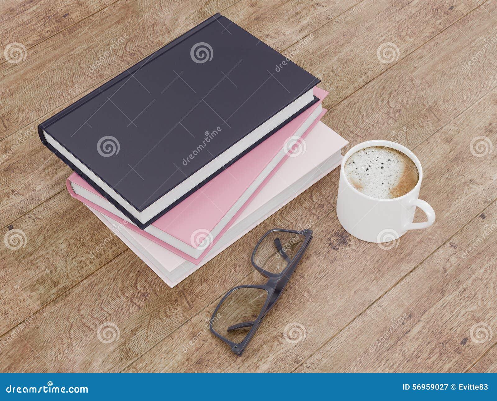 Leeg het modelmalplaatje van het kleurenboek op houten achtergrond
