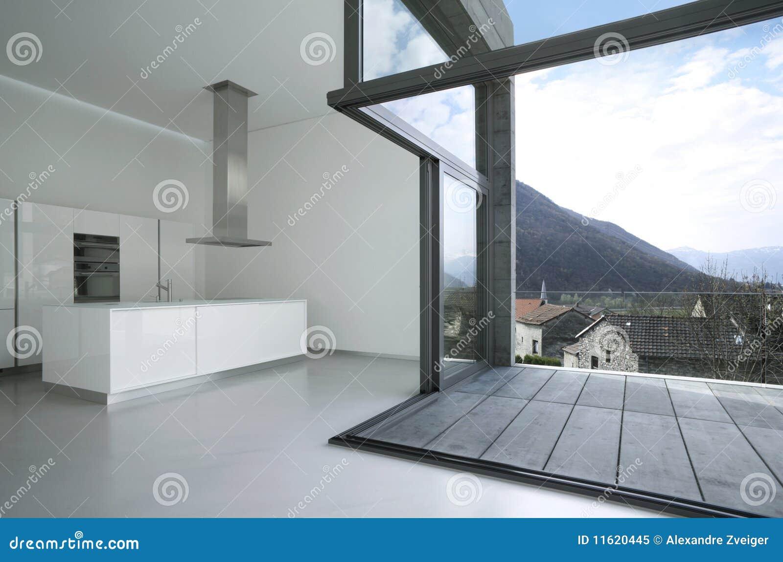 Leeg modern huis stock afbeelding afbeelding bestaande uit open