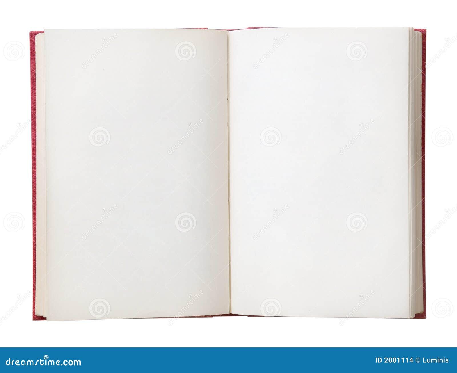 Leeg Open Boek
