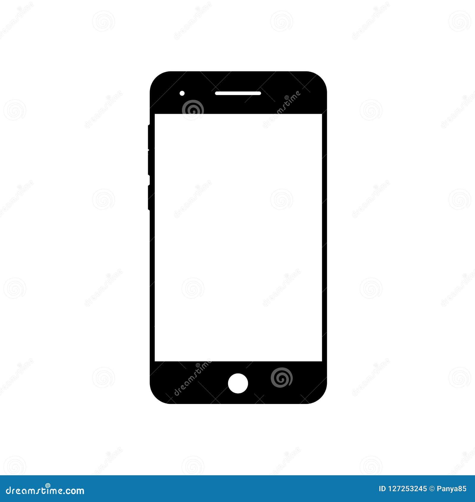 Leeg smartphonepictogram Het symbool van de celtelefoon Mobiel gadget, PDA-malplaatje