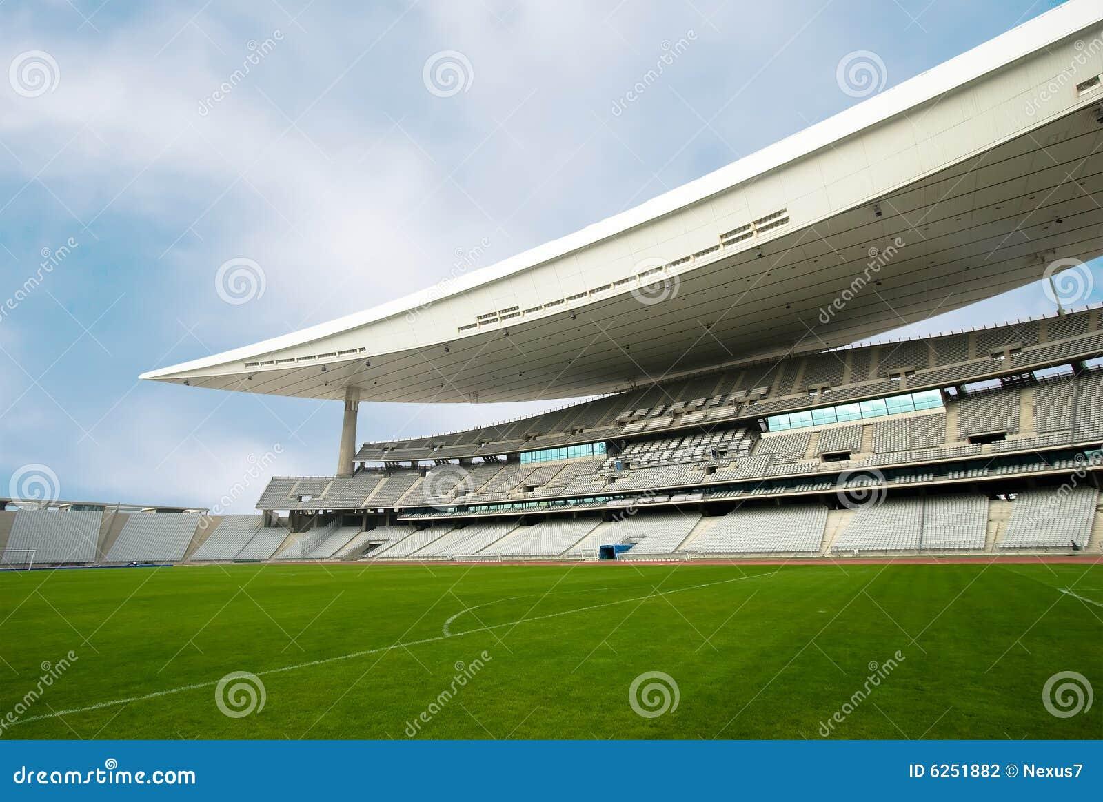 Leeg Stadion en het Gebied