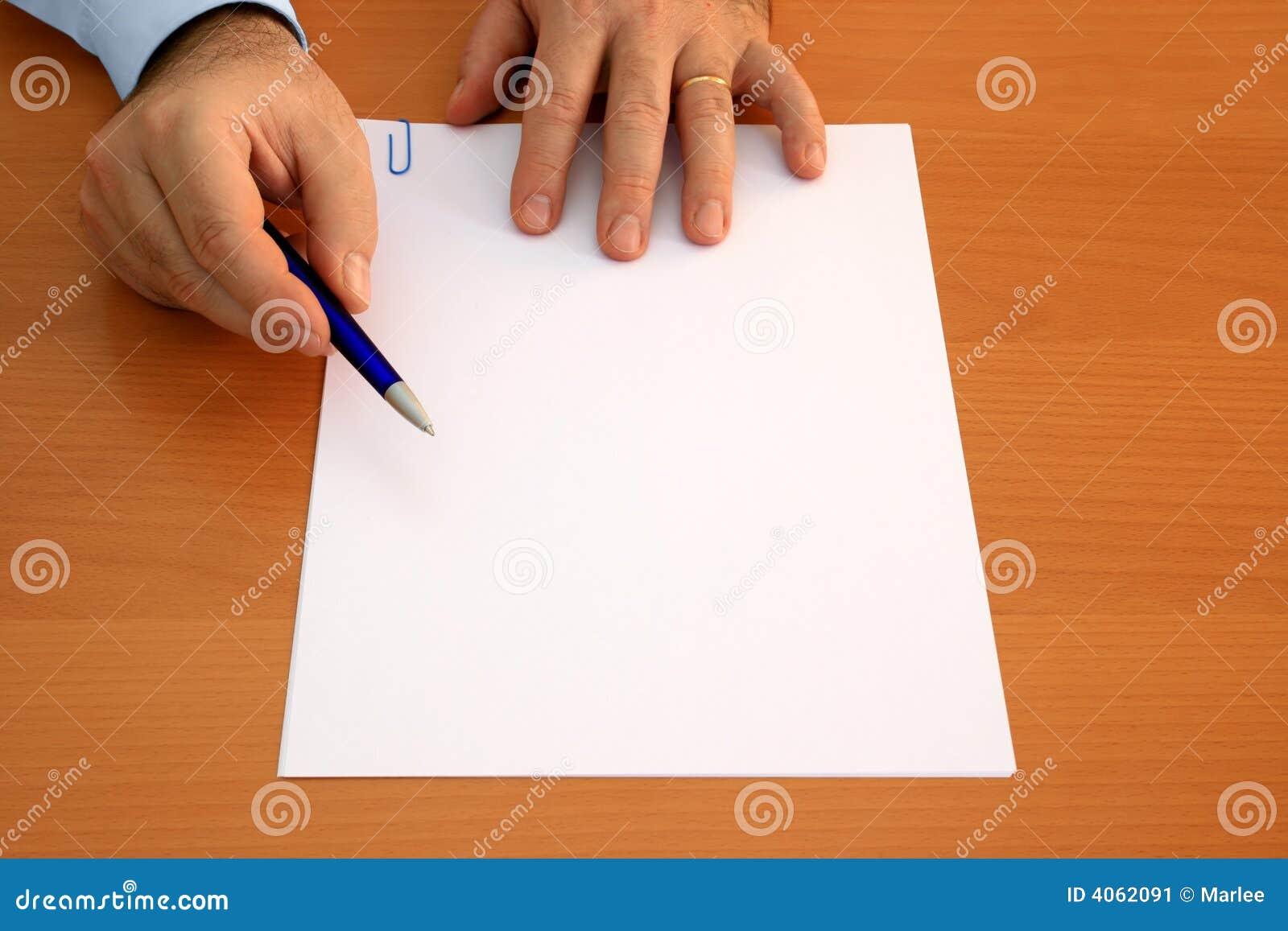 Leeg te ondertekenen document