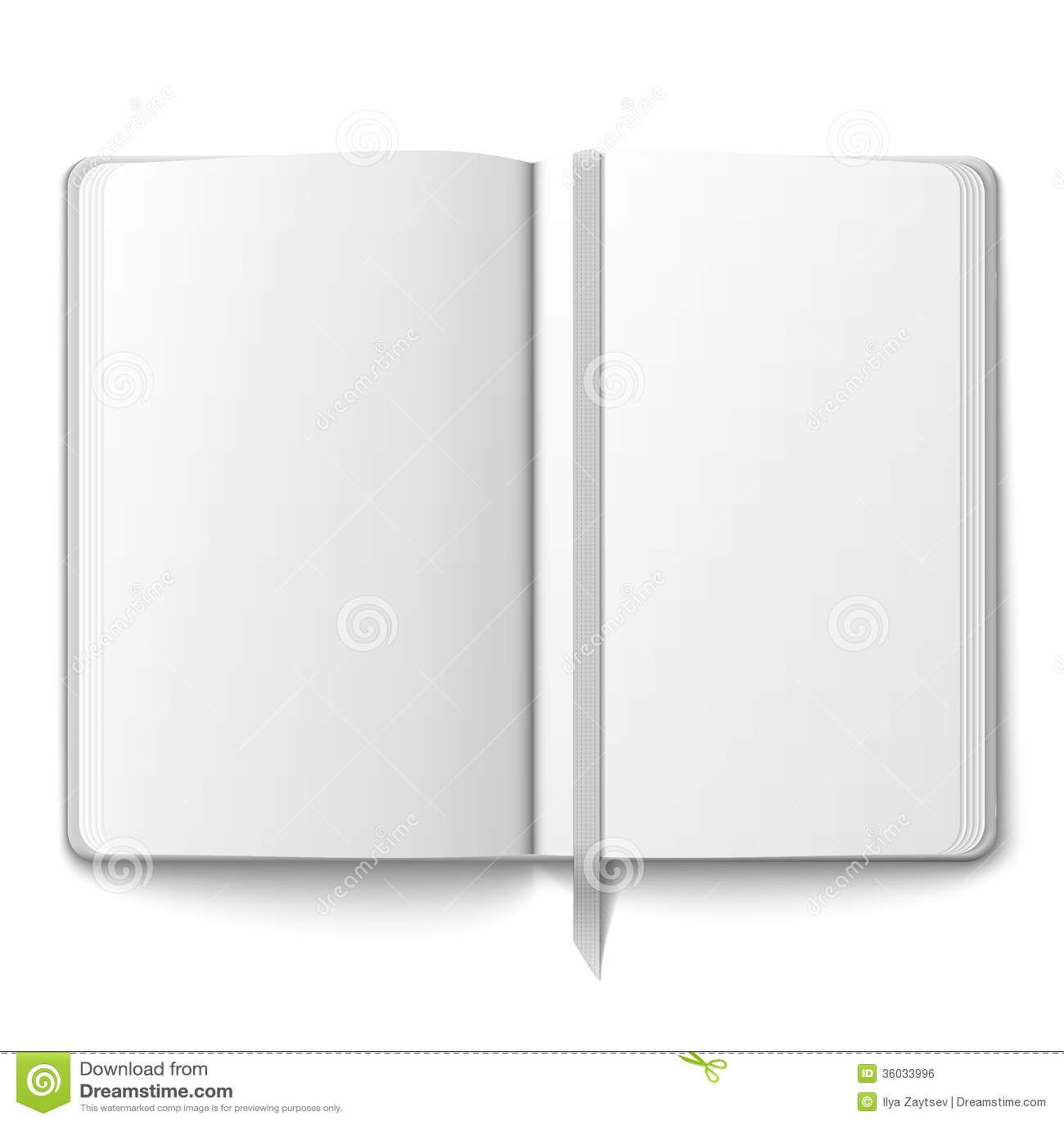 Leeg voorbeeldenboekmalplaatje met referentie.
