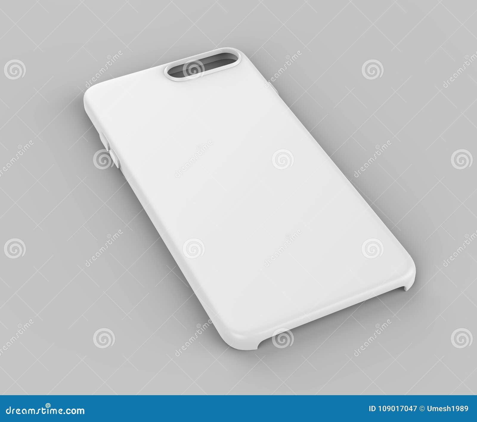 Leeg Wit Slim Telefoon Mobiel Rugdekking Of Geval Voor De Spot Van