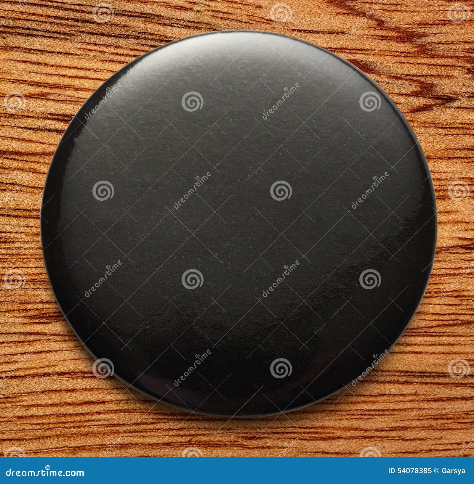 Leeg zwart rond kenteken