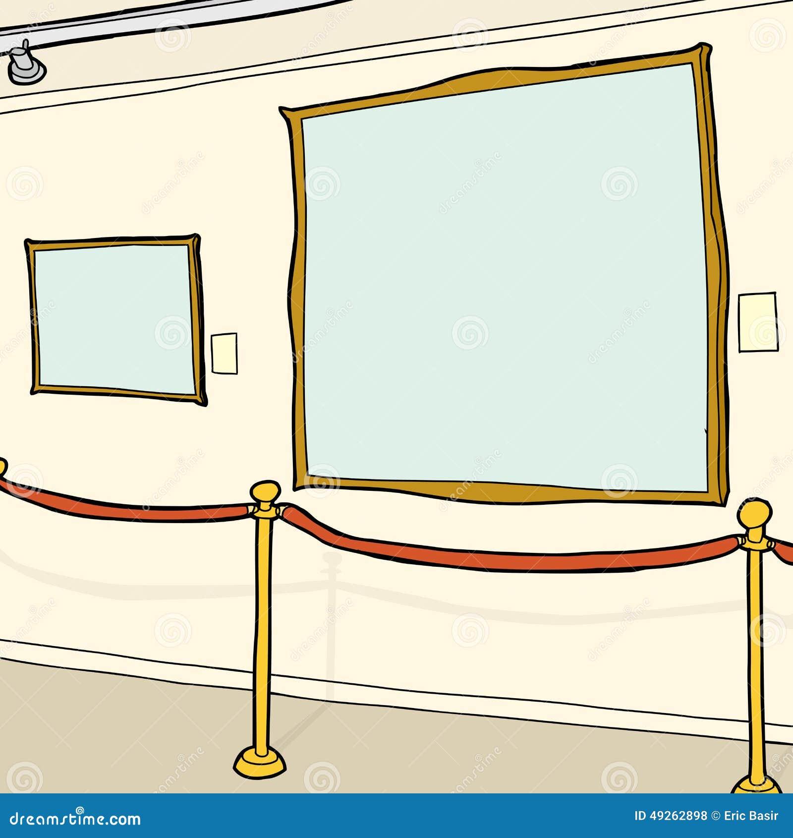 Leere Bilderrahmen Im Museum Stock Abbildung - Illustration von ...
