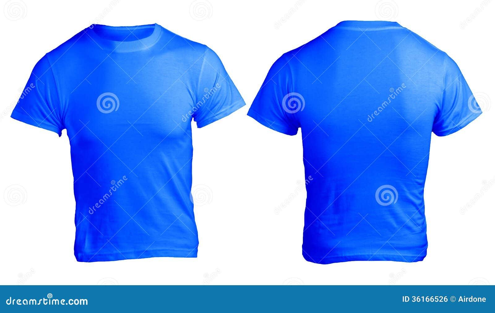 Leere Blaue Das Hemd-Schablone Der Männer Stockfoto - Bild von ...
