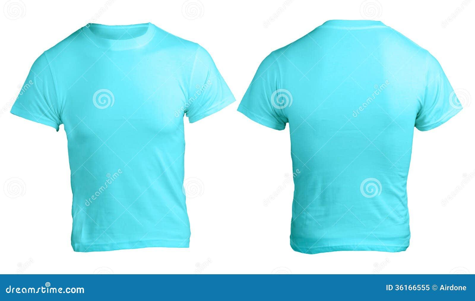Leere Blaue Das Hemd-Schablone Der Männer Stockbild - Bild von ...