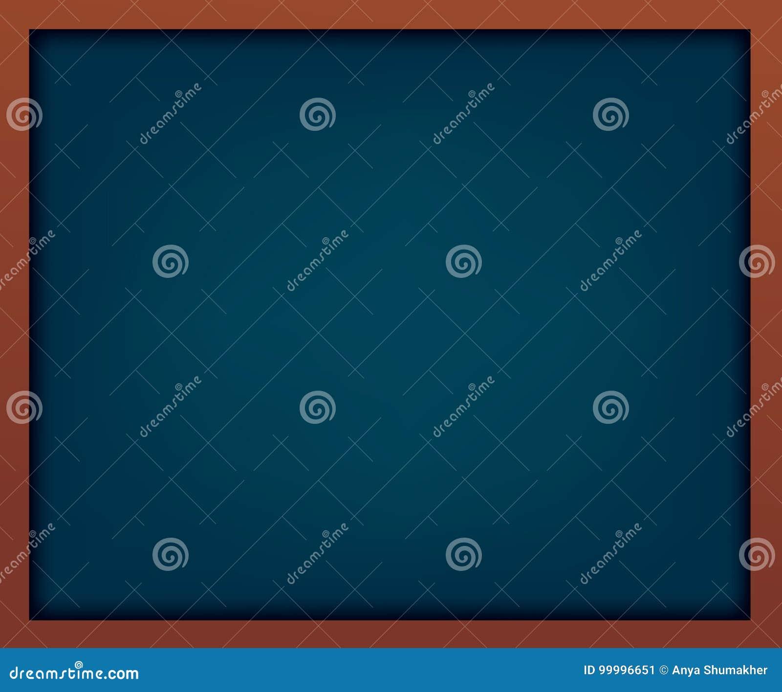 Leere Blaue Schultafel Mit Rahmen Schablone Für Ihre Auslegung Stock ...
