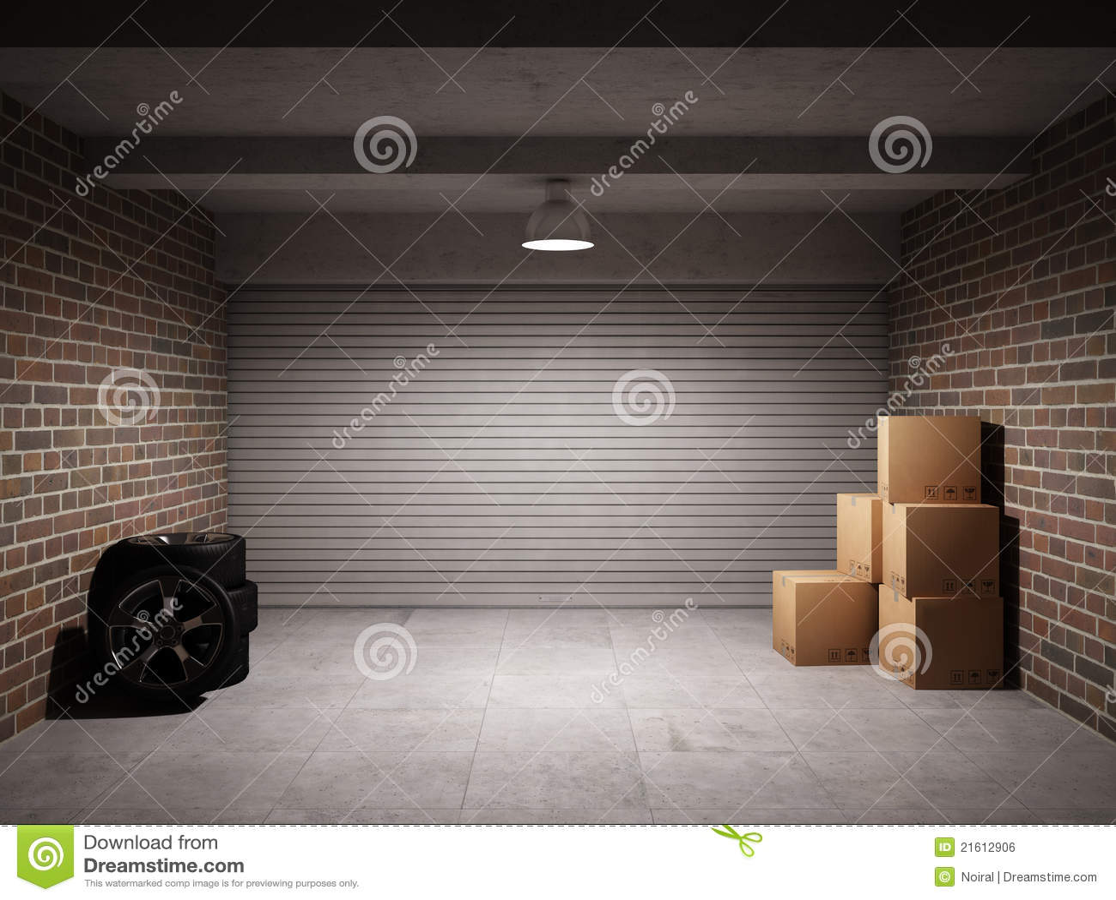 Leere Garage