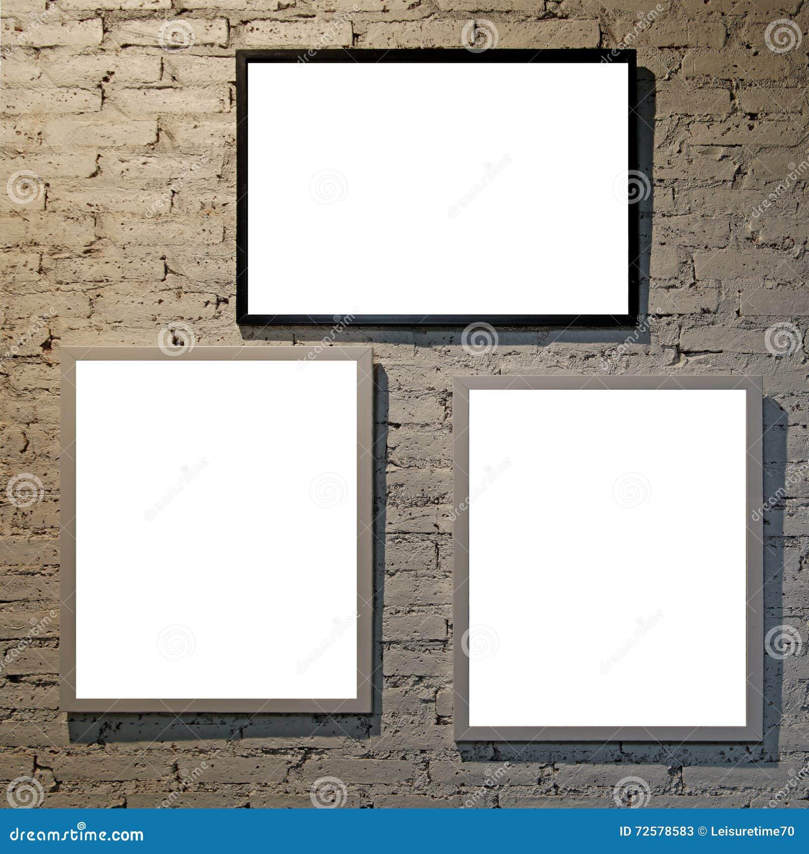 Leere moderne Bilderrahmen stockbild. Bild von ansammlung - 72578583