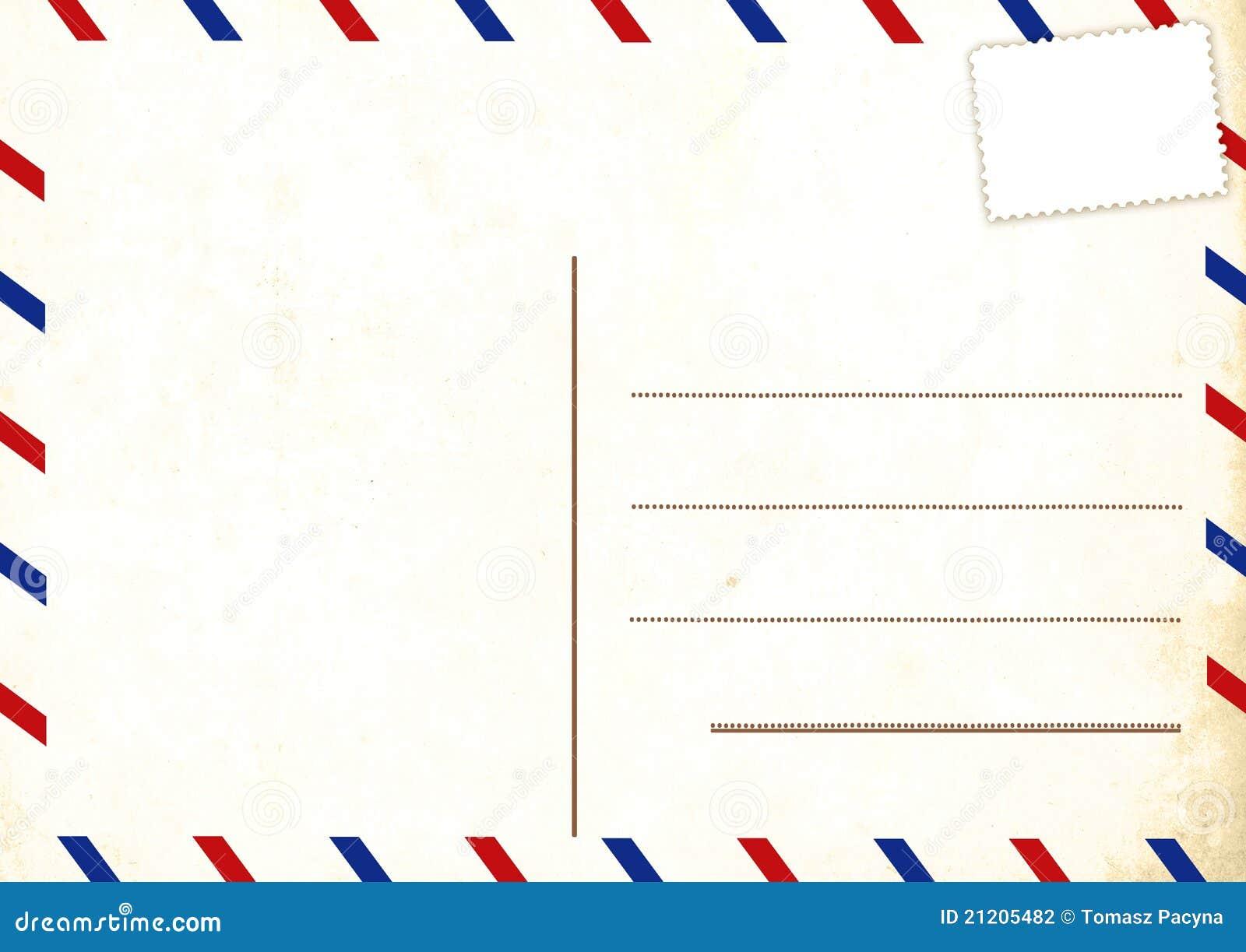 Leere Postkarte stock abbildung. Illustration von kunst - 21205482