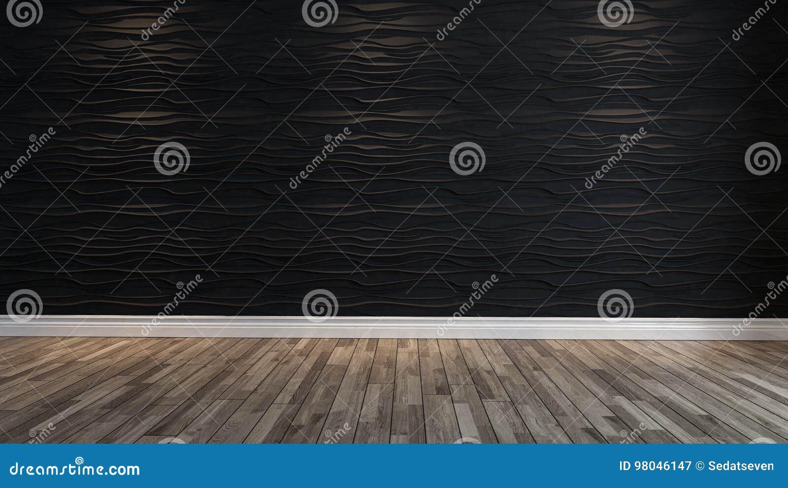 Leere Schwarze Wellenwand Mit Scheinwerferlicht Stockbild - Bild von ...