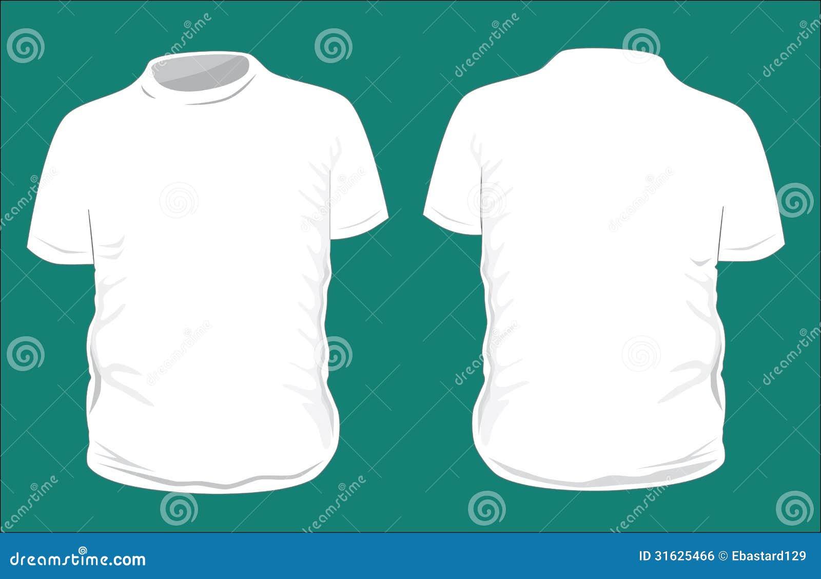 Leere T-Shirt Schablone. vektor abbildung. Illustration von frau ...