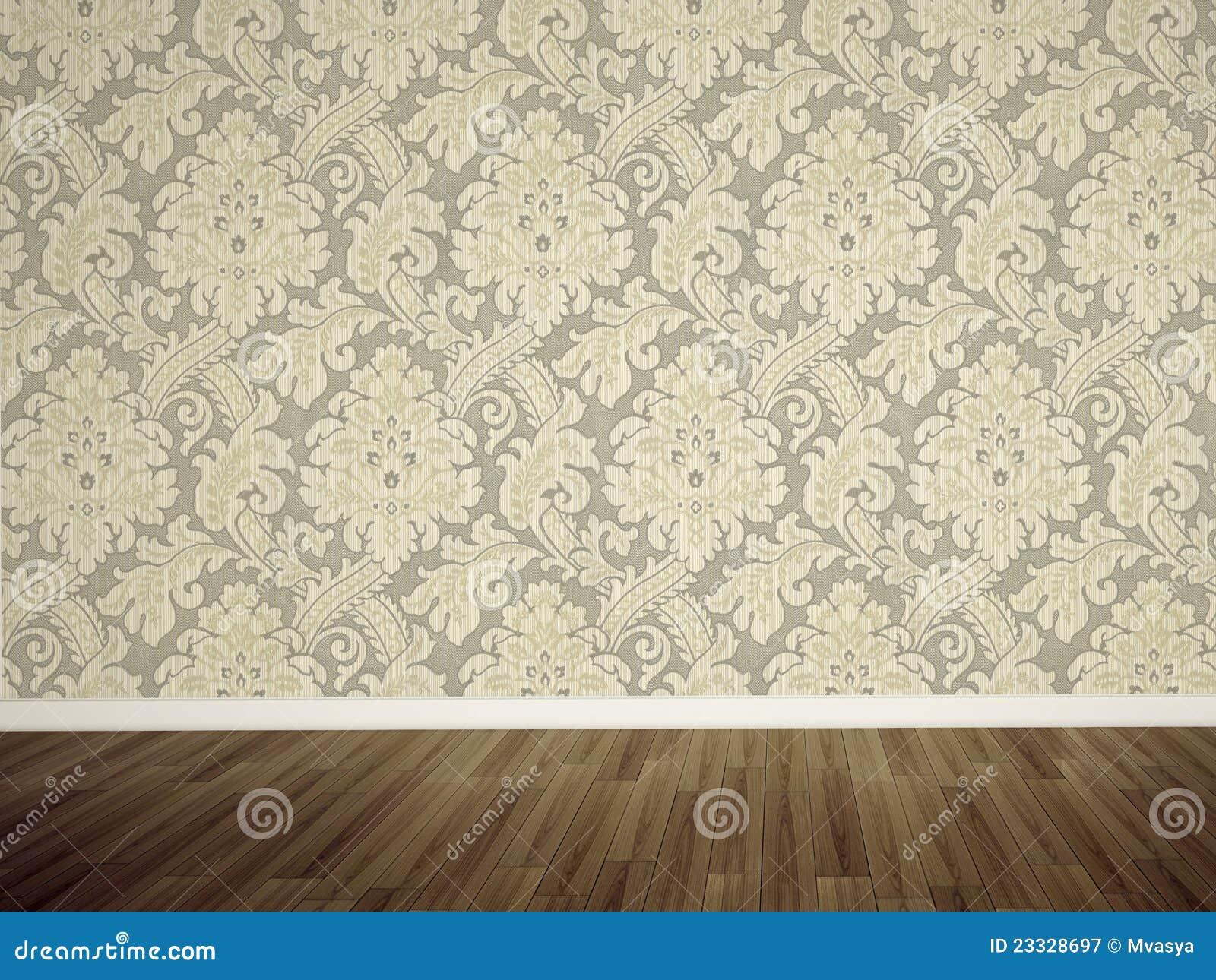 Leere Wand im Raum