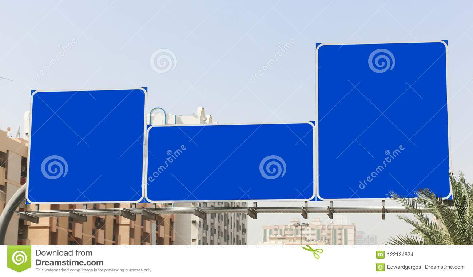 Leere Zeichen der Straße