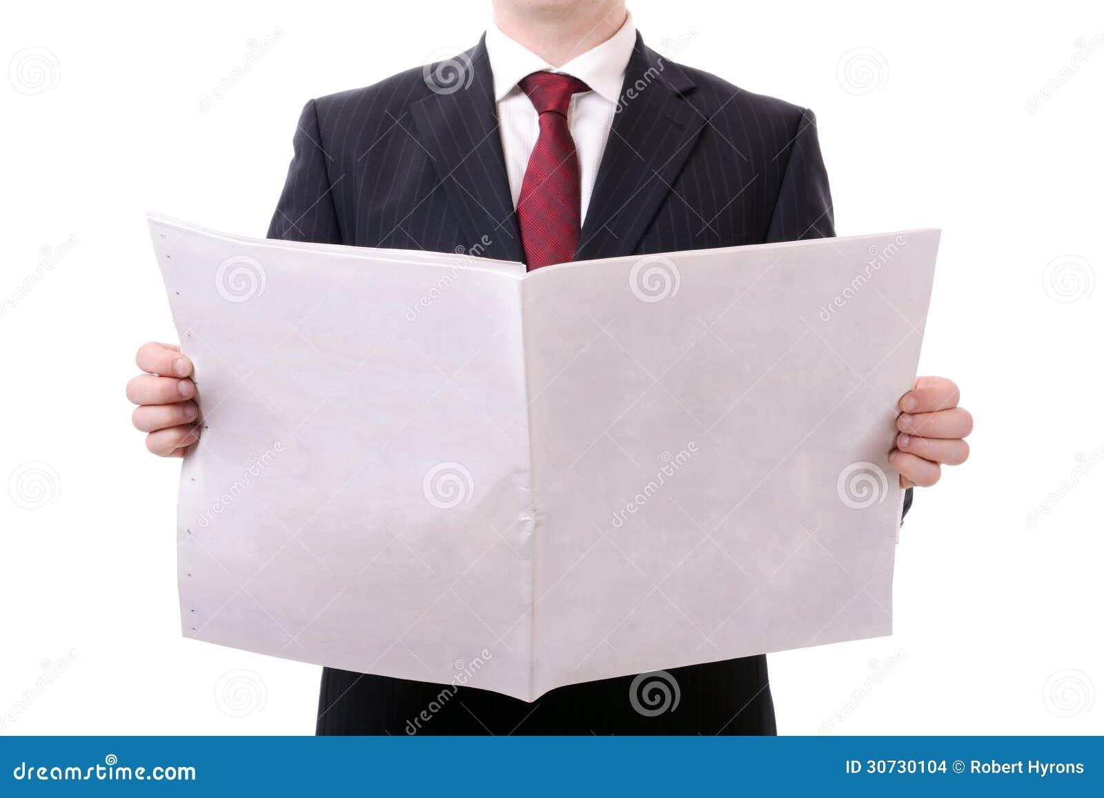 Leere Zeitung