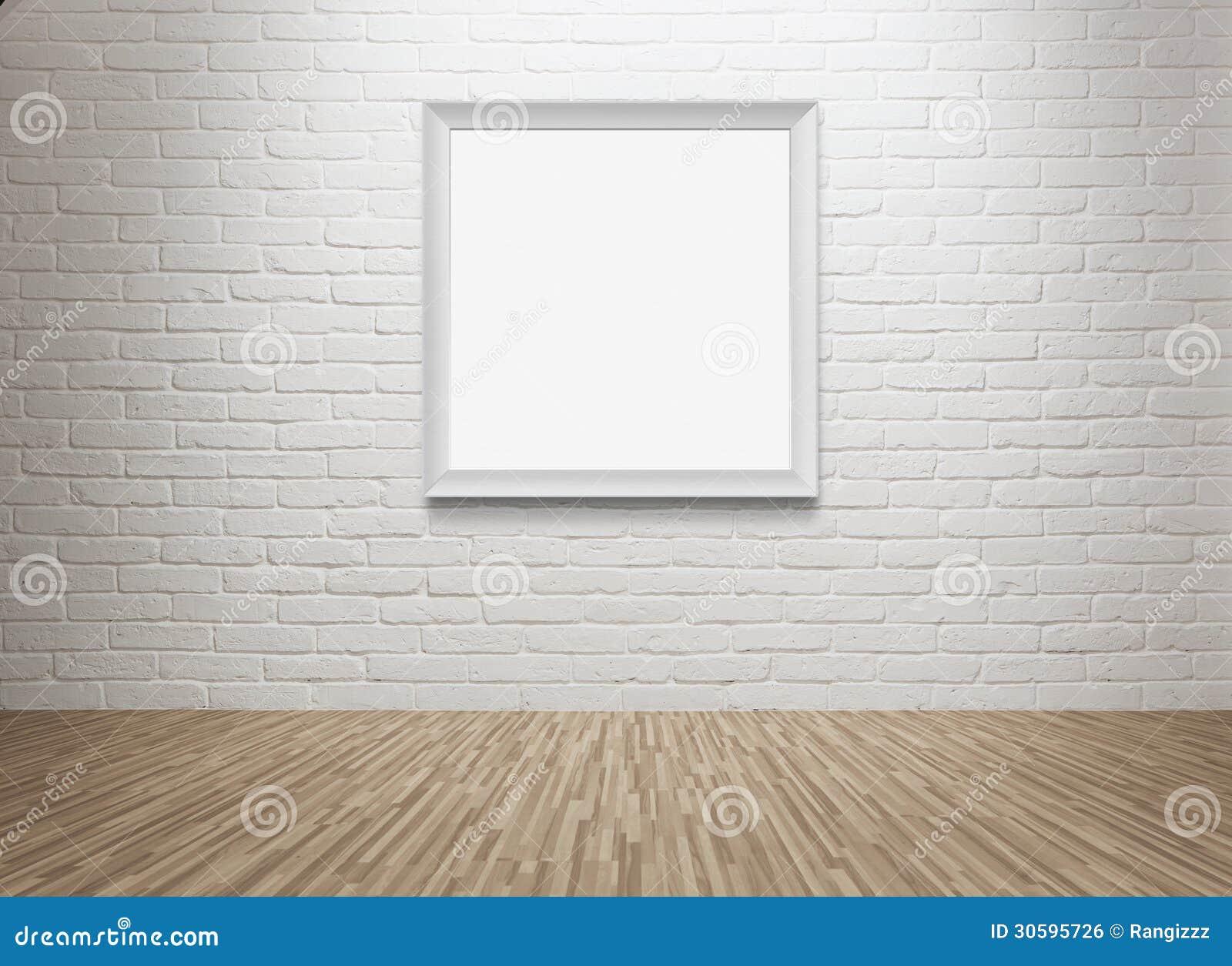 leerer bilderrahmen an der wand lizenzfreies stockbild image 30595726. Black Bedroom Furniture Sets. Home Design Ideas