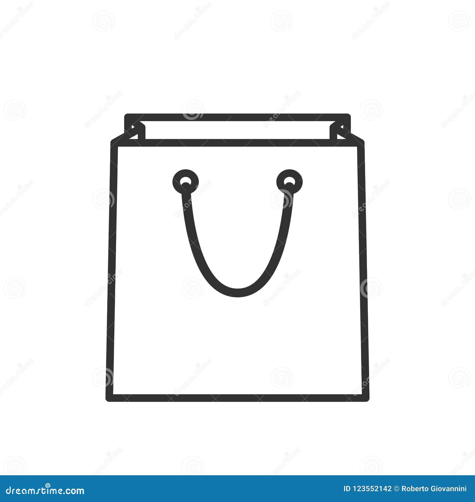 Leerer Einkaufstasche-Entwurfs-flache Ikone