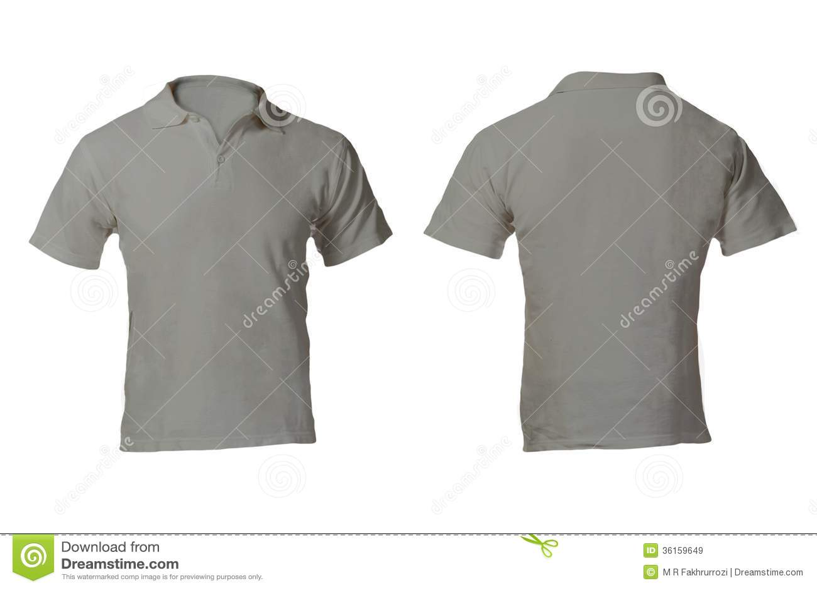 Download Leerer Grey Polo Shirt Template Der Manner Stockbild
