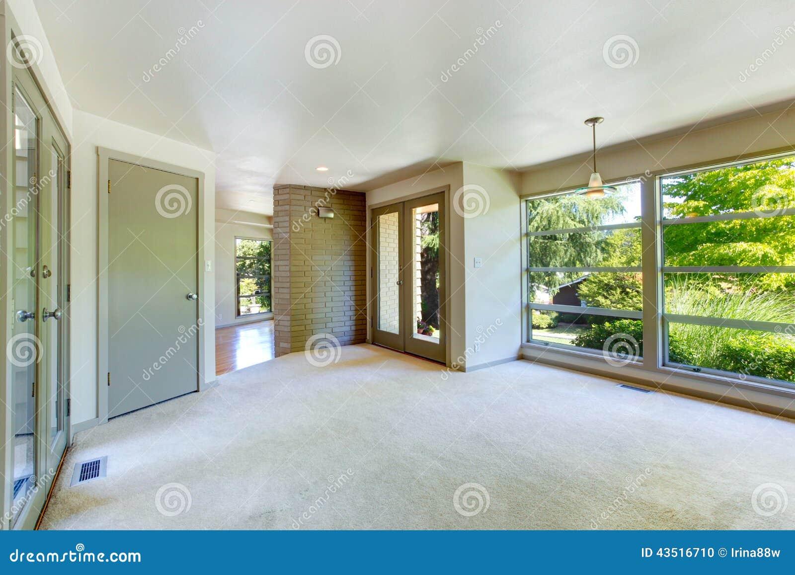 Elegant Glaswand Wohnzimmer Dekoration Von Leerer Innenraum Mit