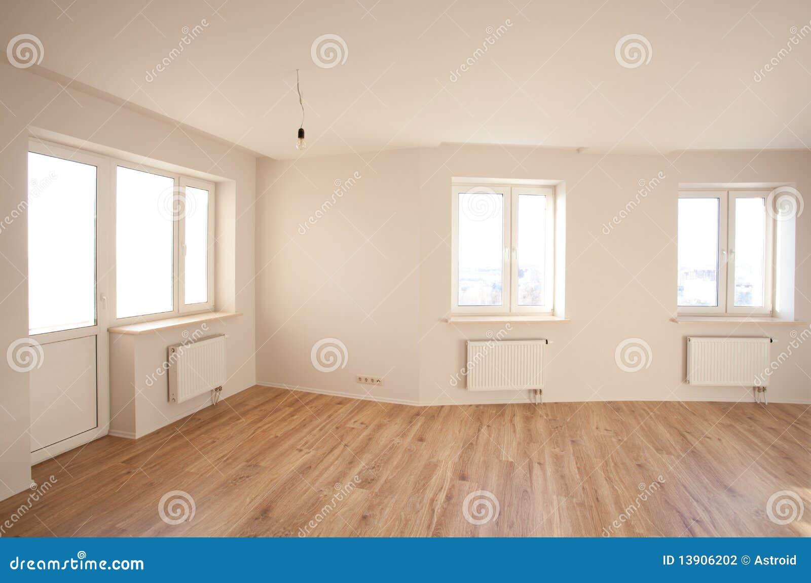 Leerer Heller Raum Mit Fenster Stockfoto Bild Von Real Parquet