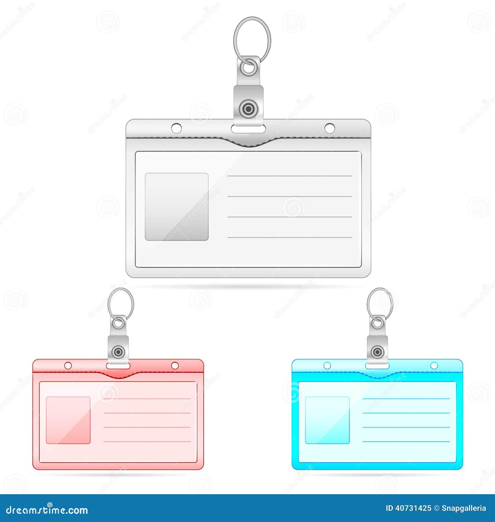 Leerer Personalausweis vektor abbildung. Illustration von kontakt ...