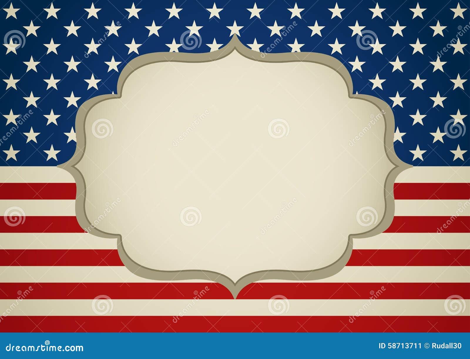 Leerer Rahmen Auf Amerika-Insignien Vektor Abbildung - Illustration ...