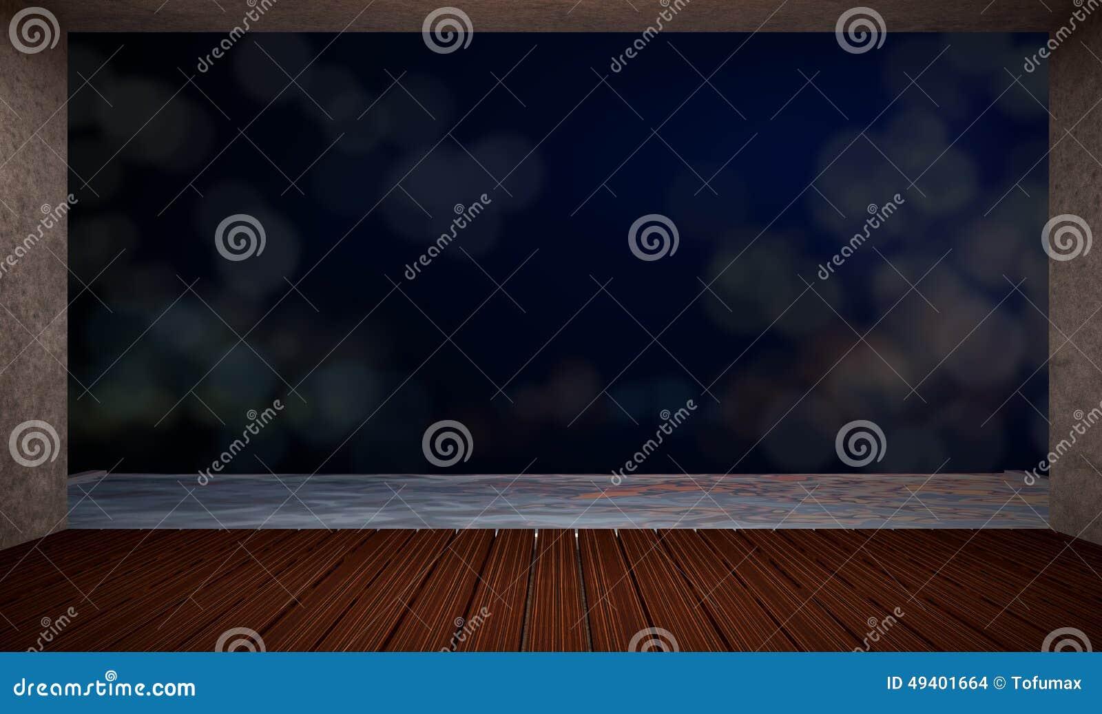 Download Leerer Raum stock abbildung. Illustration von decke, fußboden - 49401664