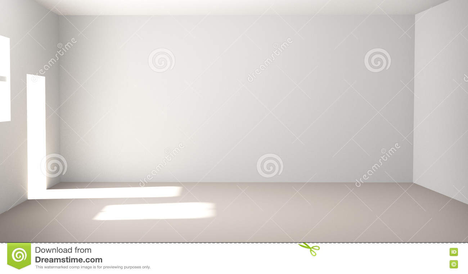Leerer Raum 3d übertragen Raum Stockbild Bild Von Hintergrund