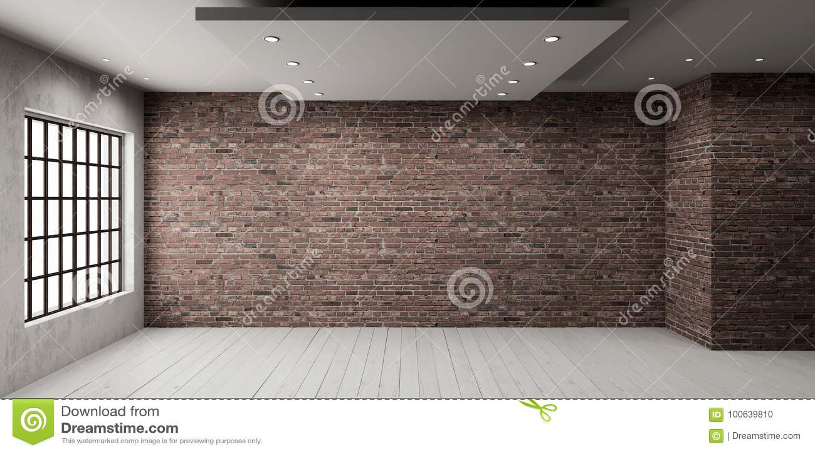 Leerer Raum in der Dachbodenart