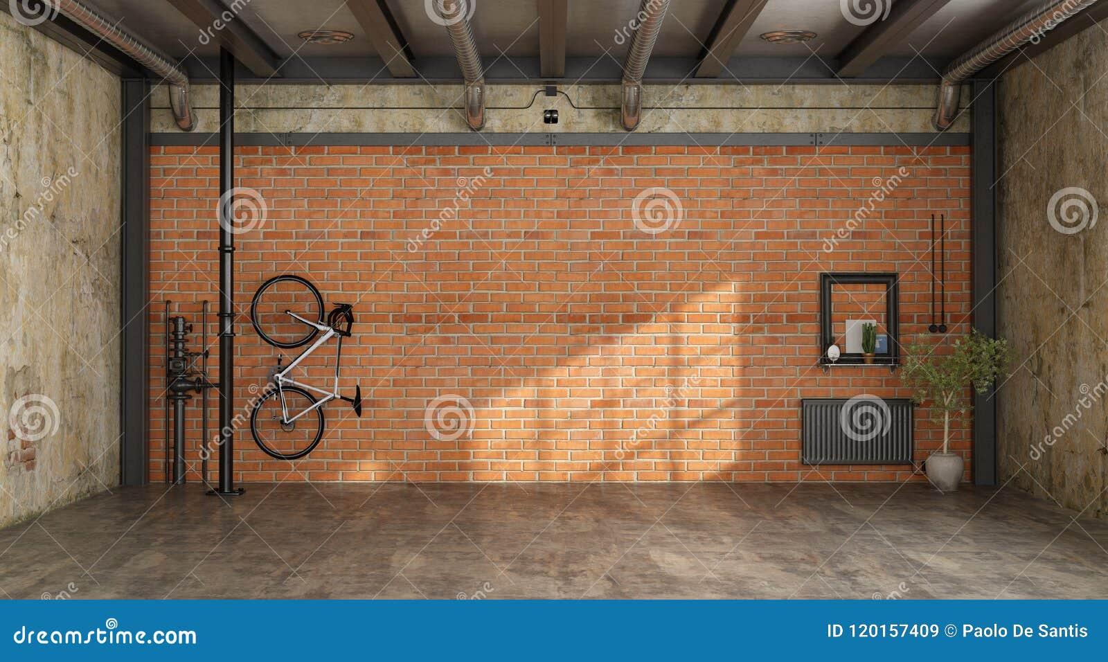 Leerer Raum in einem Dachboden