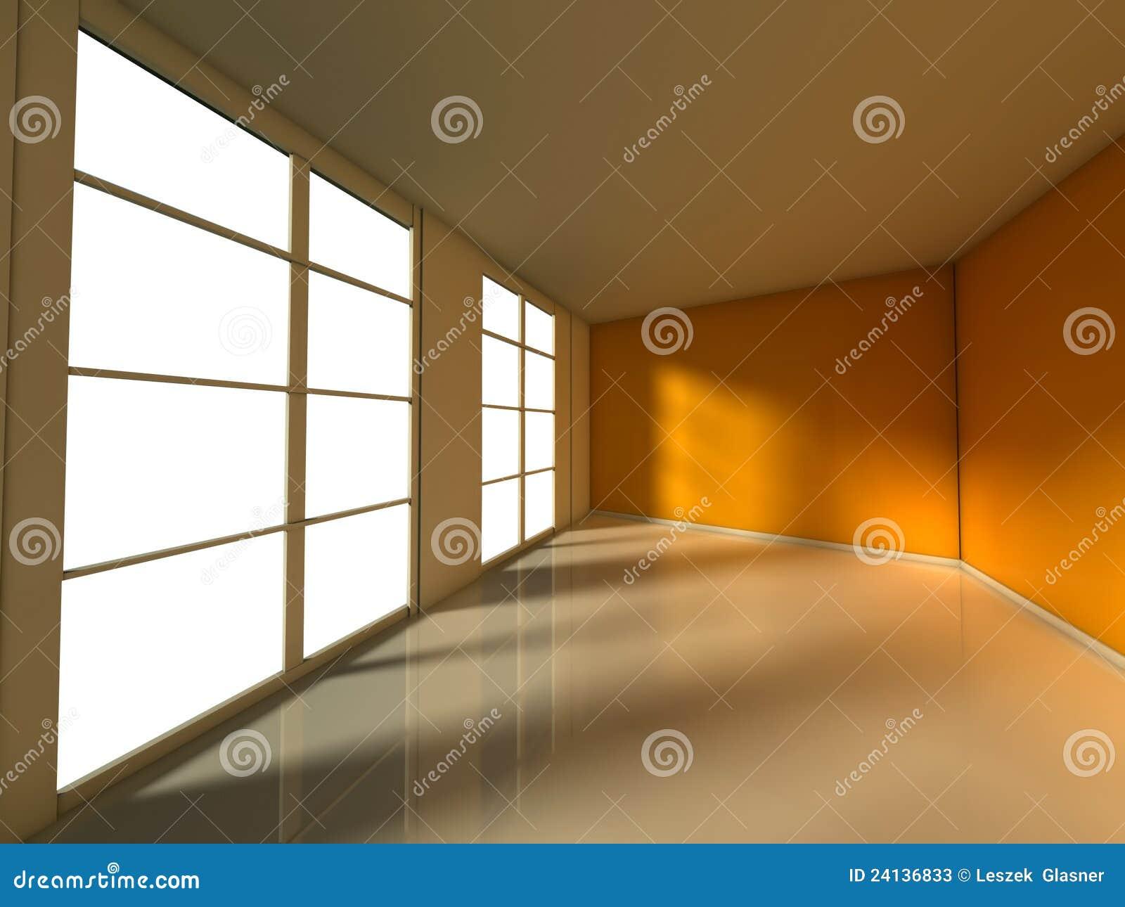 leerer raum innenraum des hauses 3d stockfotos bild 24136833. Black Bedroom Furniture Sets. Home Design Ideas