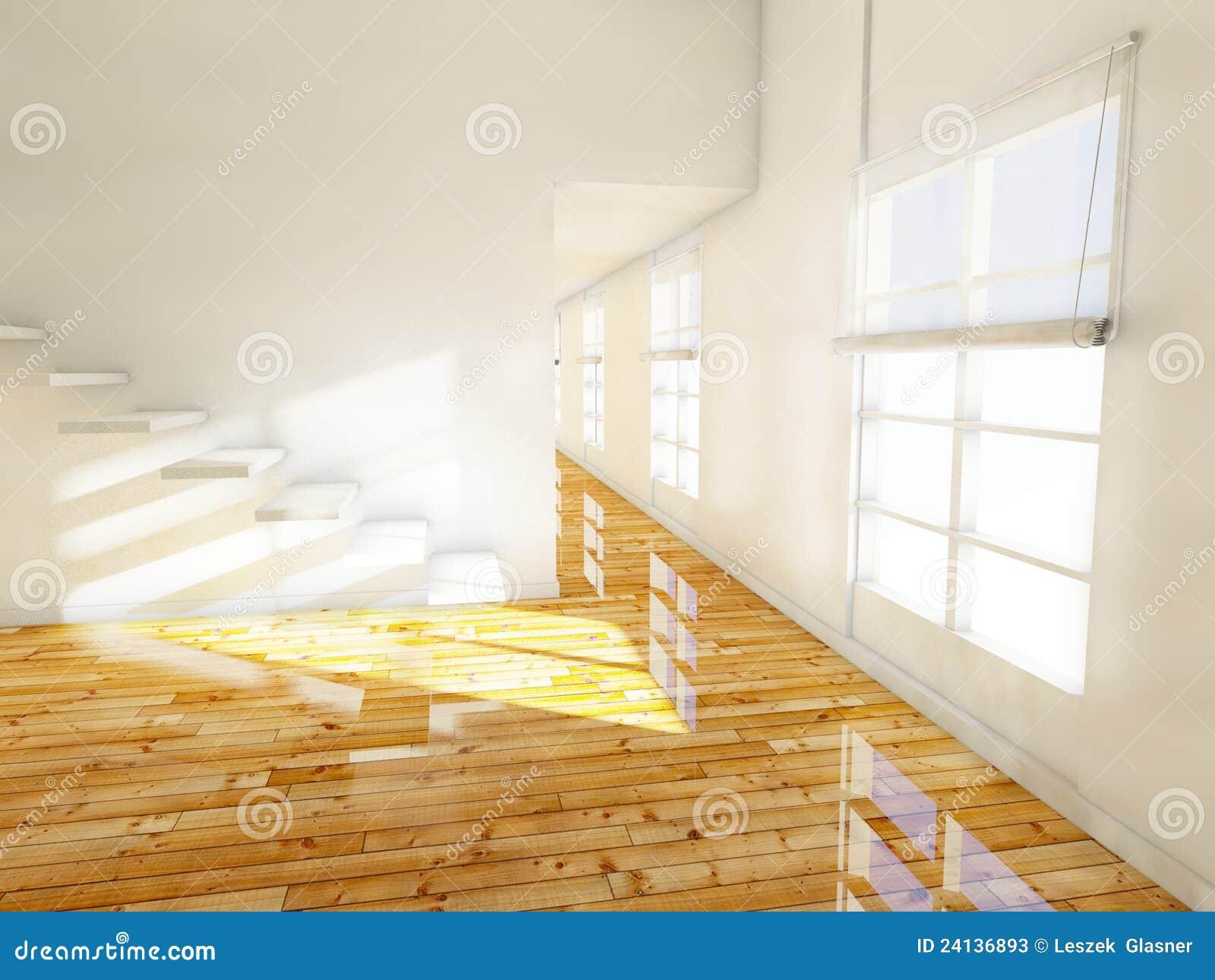 leerer raum innenraum des hauses 3d stockfotos bild 24136893. Black Bedroom Furniture Sets. Home Design Ideas