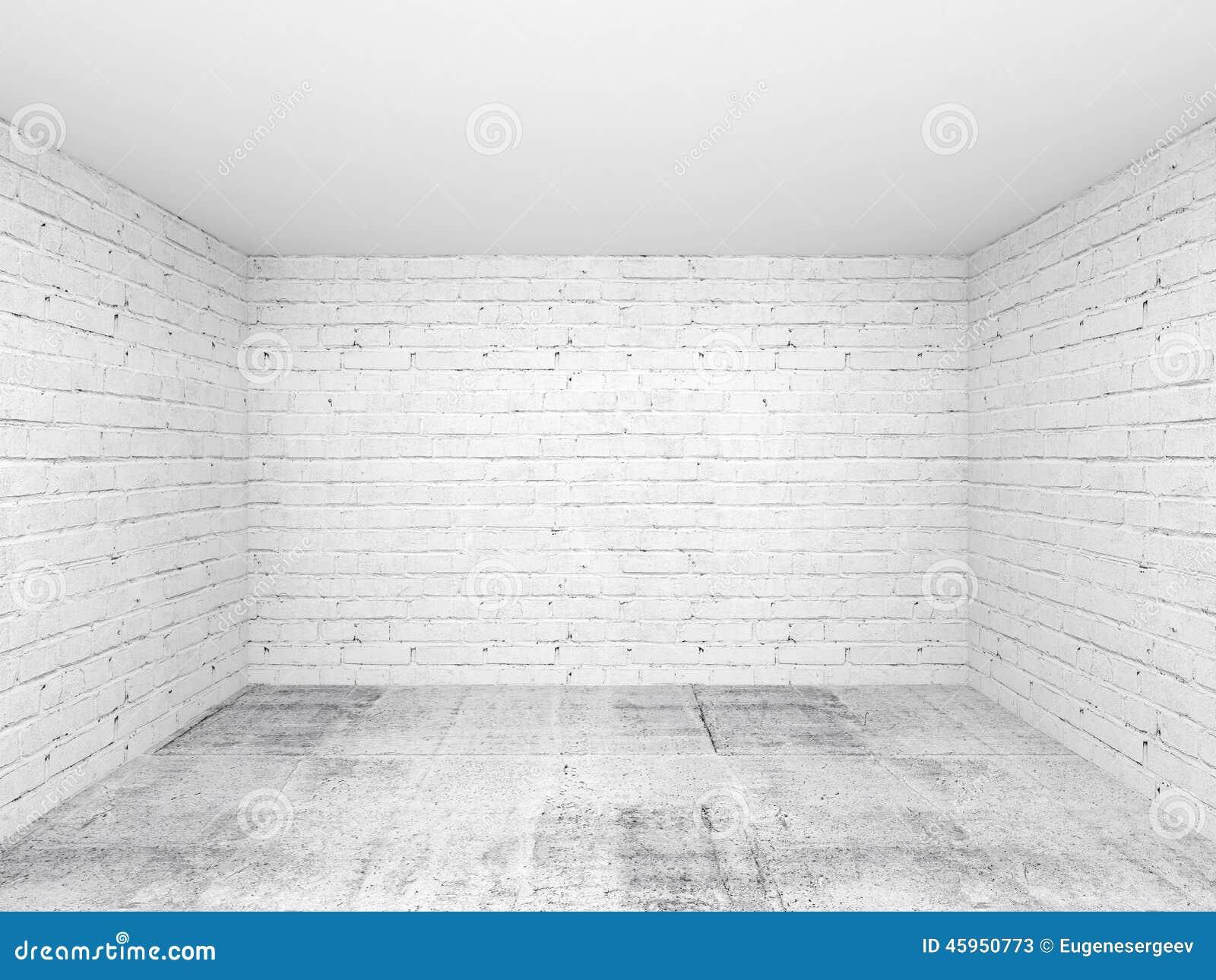 leerer raum innenraumhintergrund des wei 3d stock abbildung bild 45950773. Black Bedroom Furniture Sets. Home Design Ideas