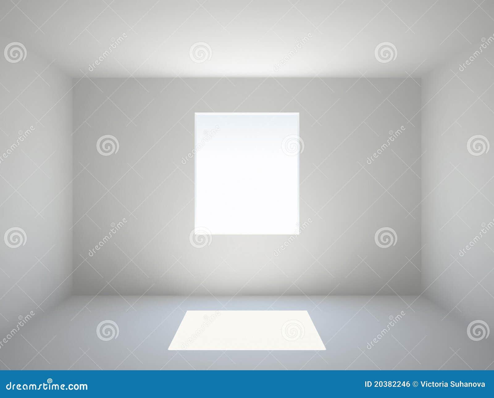 leerer raum mit fenster lizenzfreies stockbild bild 20382246. Black Bedroom Furniture Sets. Home Design Ideas