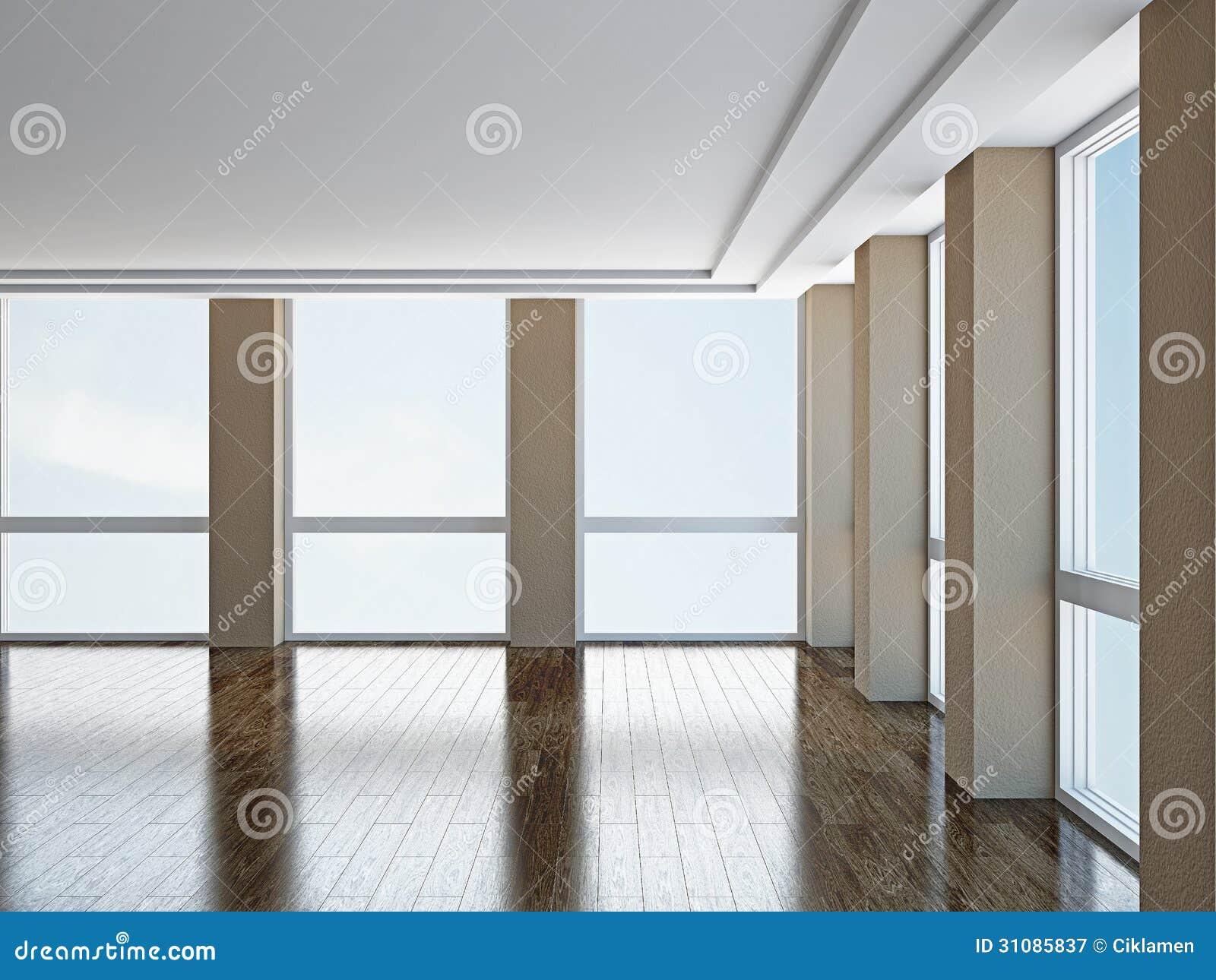 leerer raum mit fenstern lizenzfreie stockfotografie bild 31085837. Black Bedroom Furniture Sets. Home Design Ideas