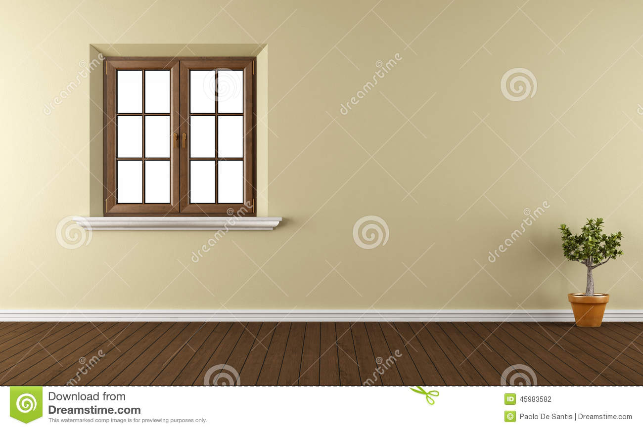 leerer raum mit geschlossenem fenster stock abbildung illustration von innen glas 45983582. Black Bedroom Furniture Sets. Home Design Ideas