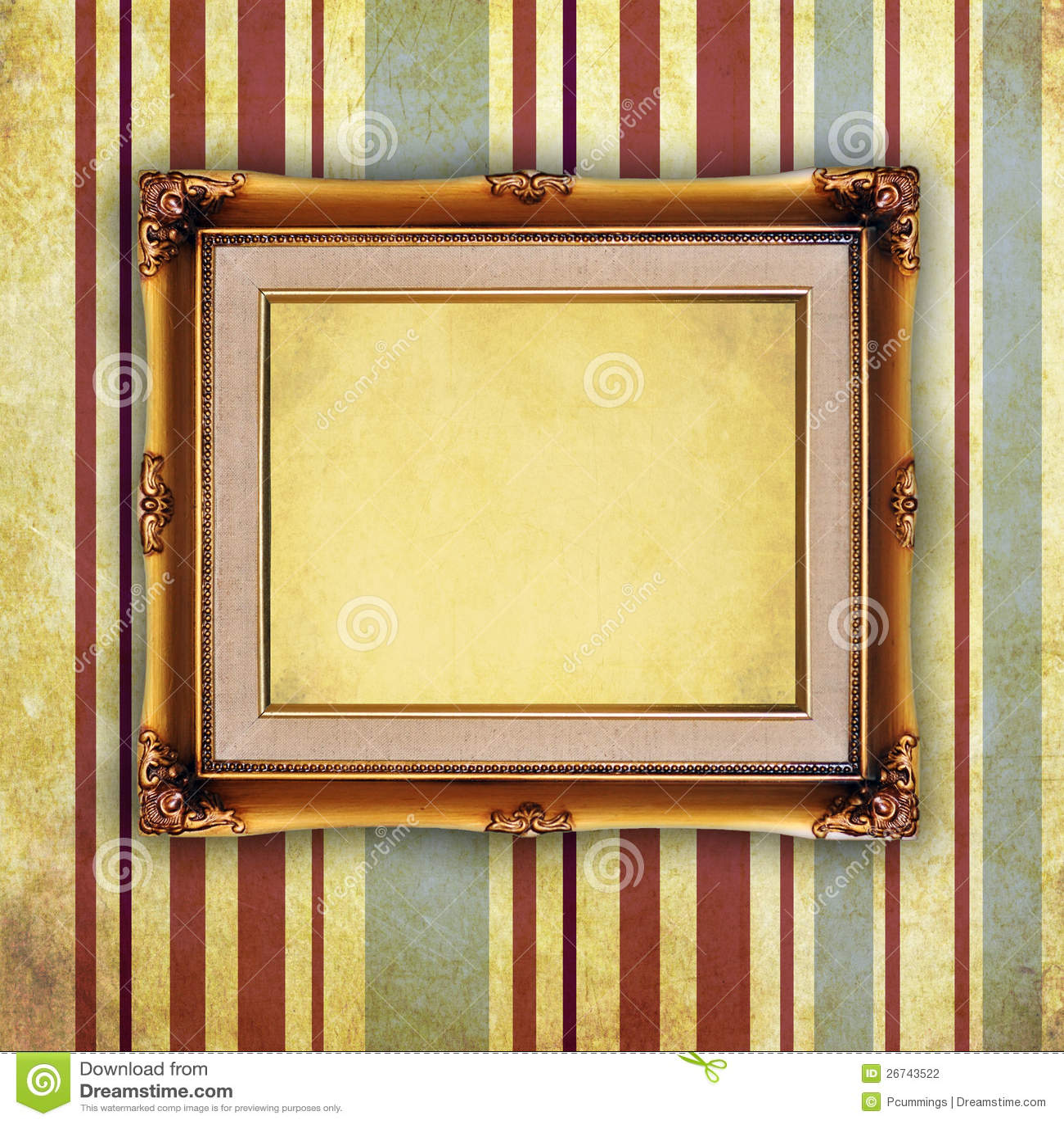 leerer retro bilderrahmen auf alter wand stockfotografie bild 26743522. Black Bedroom Furniture Sets. Home Design Ideas
