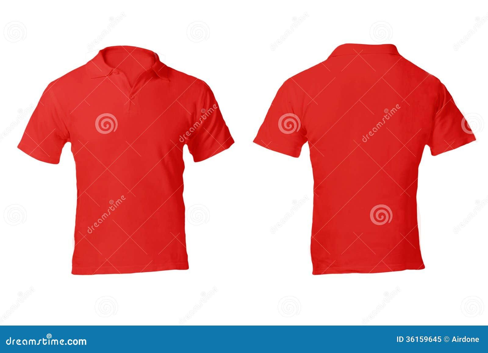 Leerer Roter Polo Shirt Template Der Männer Stockbild - Bild von ...