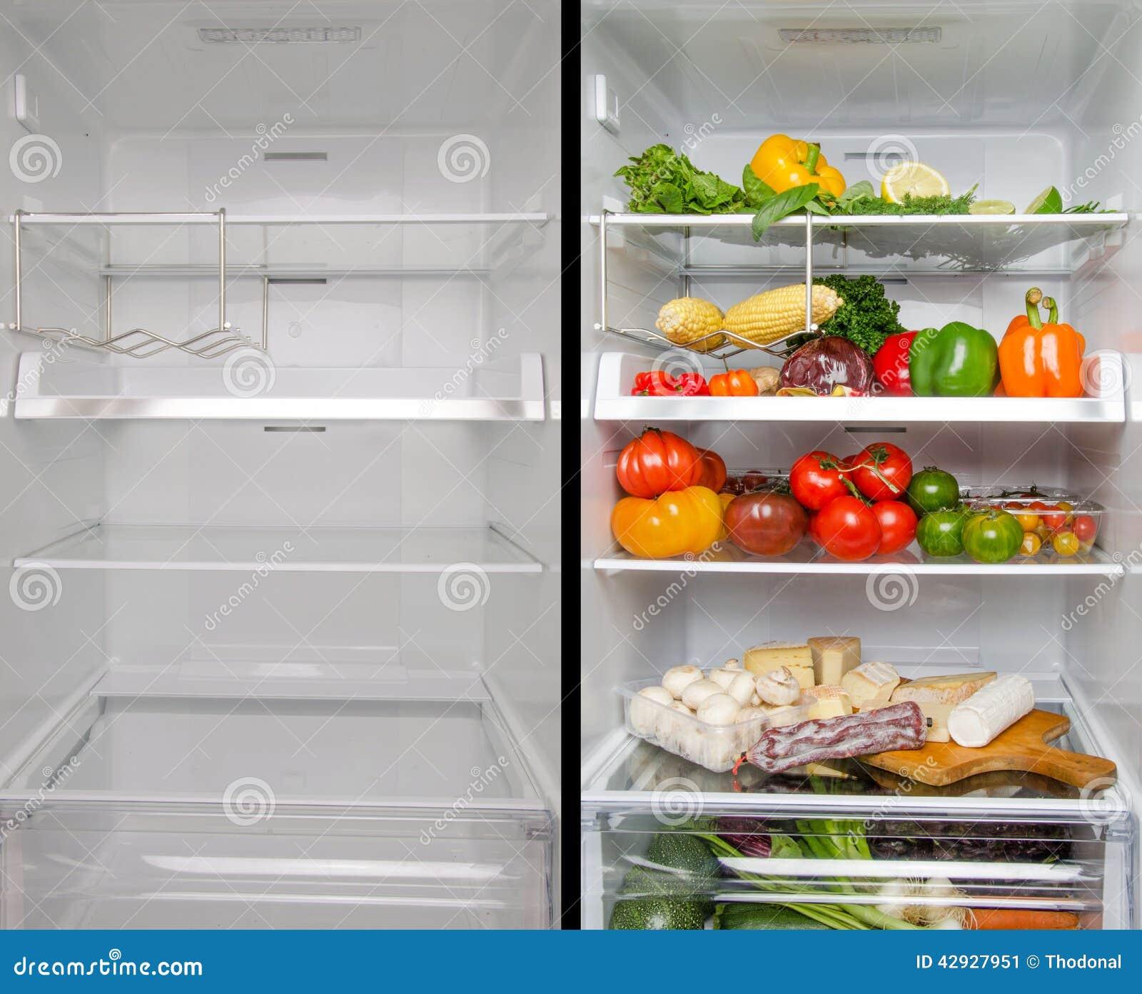 leerer und voller kühlschrank stockfoto  bild 42927951 ~ Kühlschrank Wien