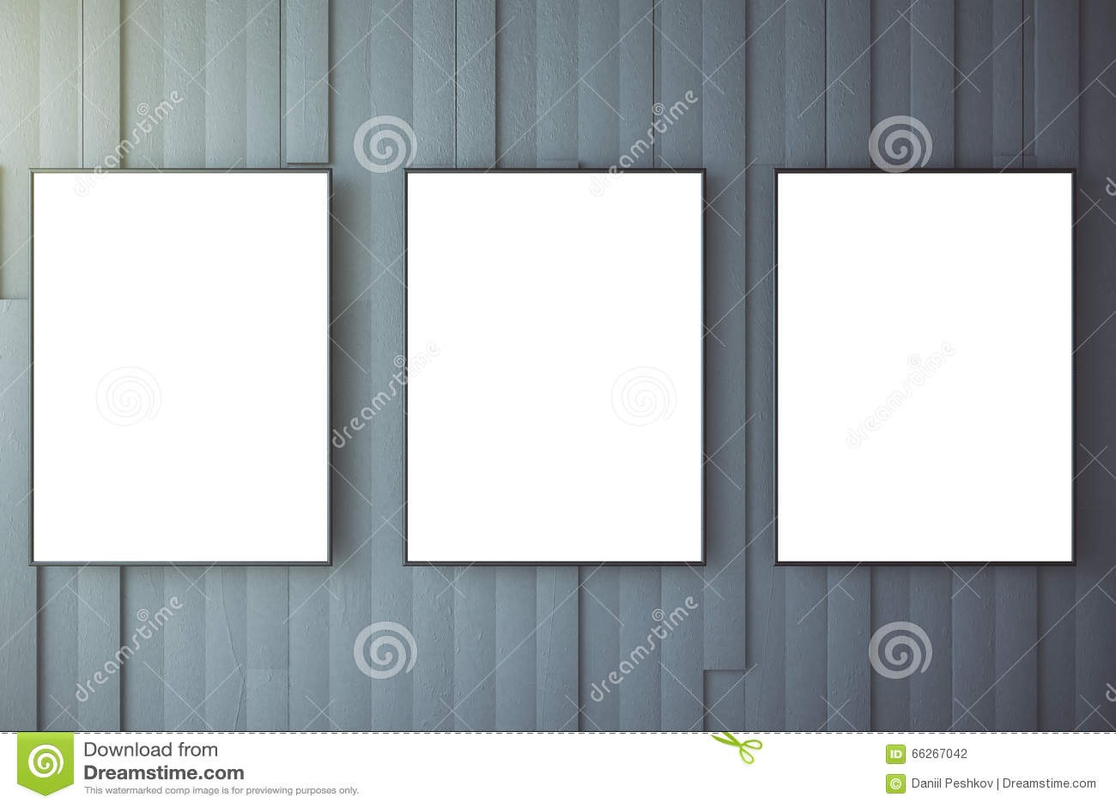 Leerer Weißer Poster Auf Grauer Wand