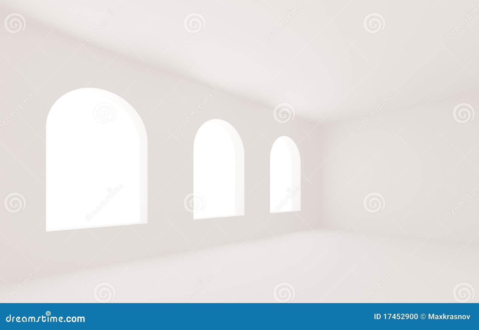 leerer wei er raum stockfoto bild 17452900. Black Bedroom Furniture Sets. Home Design Ideas